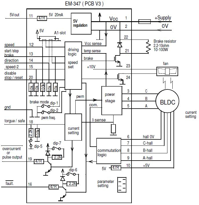 brushless dc motor drive circuit